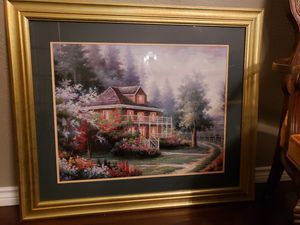 XL scenic painting in gold frame for Sale in San Angelo, TX