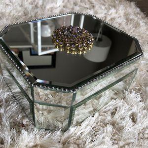 Glass Mirror Jewelry Box for Sale in Las Vegas, NV