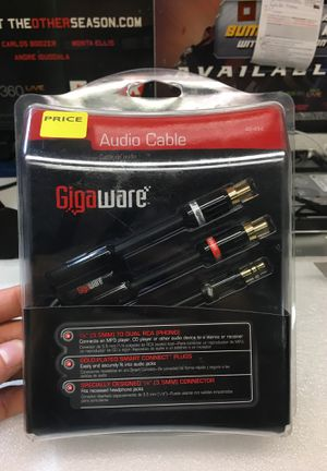 Gigaware Audio Cable - 3.5mm / RCA for Sale in Rialto, CA