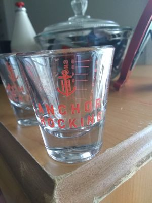 Anchors Away 2 shot glasses for Sale in Spanaway, WA