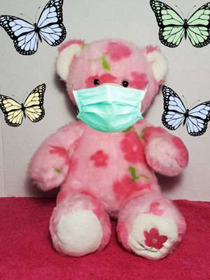 """16"""" Build a Bear Pink Spring Season of Hugs Flower Paw BABW Easter Teddy Plush for Sale in Dale, TX"""