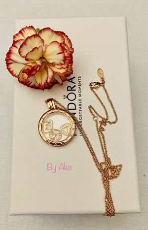 Pandora Tone-Rose gold locket with charms for Sale in Los Angeles, CA