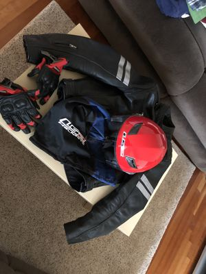 Motorcycle jacket + Helmet + gloves for Sale in Falls Church, VA
