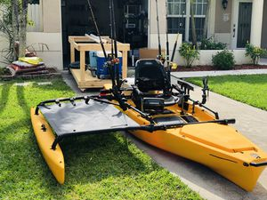 *PRICE DROP* Hobie PA14 w/ama and motor mount, fish finder, hobie xl live well + so much more for Sale in Boca Raton, FL