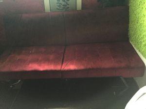 Red Velvet Futon for Sale in Columbus, OH