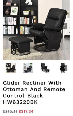 Brand new recliner and ottoman for Sale in Bakersfield, CA