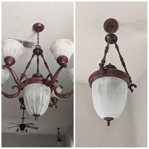 Set of 2 chandelier light fixtures for Sale in Stockton, CA