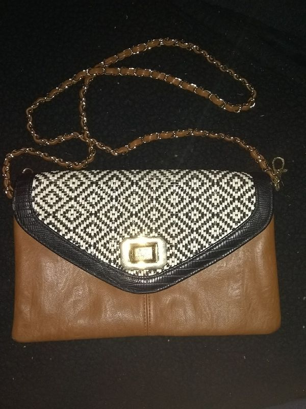 Aldo handbag with gold and leather chain