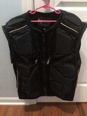 Médium motorcycle riding vest with pads - $45 obo for Sale in Streamwood, IL
