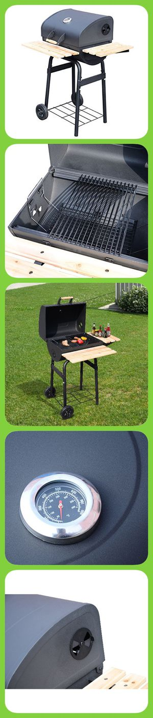 "Charcoal Barbeque Grill BBQ Smoker 12"" x 18"" 