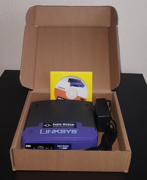 Linksys Broadband Cable Modem & AC adapter for Sale in Irving, TX