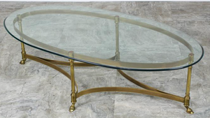 Mid-Century Labarge Brass & Glass Coffee Table for Sale in Clearwater, FL