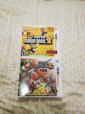 SUPER SMASH BROS AND SUPER MARIO 2 NINTENDO 3DS for Sale in Queens, NY