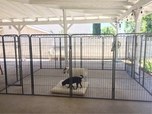 New in box 48 inch tall x 32 inches wide each panel x 16 panels exercise playpen fence safety gate dog cage crate kennel perrera cerca for Sale in Covina, CA