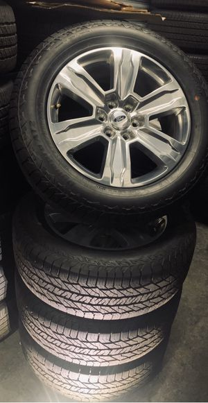 2020 Ford F-150 F-150 Expedition Wheels Rims Tires Rines Platinum for Sale in Gardena, CA