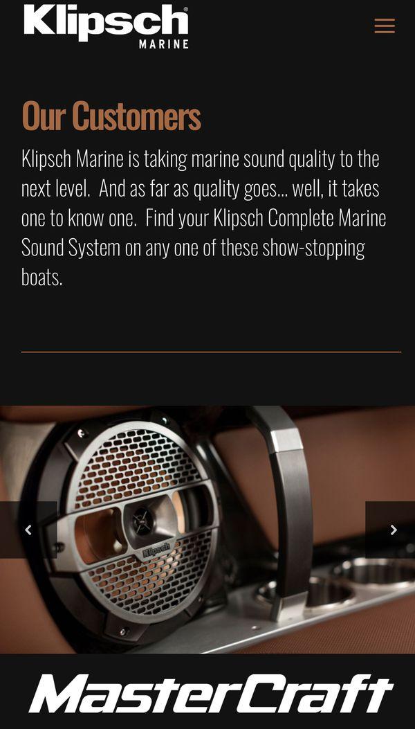 Klipsch Marine (4) speakers and head unit brand new