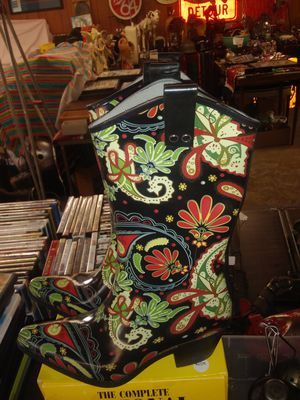 Ornate gardening cowboy boots. Waterproof rubber for Sale in Chico, CA