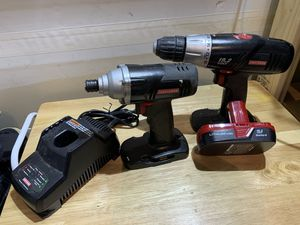 Craftsman Cordless Drill, Impact Wrench, Like New Battery, and Charger for Sale in NO POTOMAC, MD