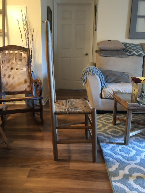 "Cane Four Ladder accent chair ""43"" inches"