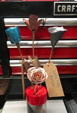 Custom Handmade Copper Roses, Calla Lilly's, Tiger Lilly's, Tulips. for Sale in West Richland, WA