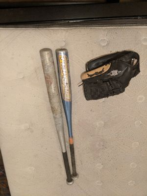 Baseball bats and gloves for Sale in Concord, CA
