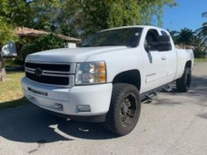 2013 CHEVROLET SILVERADO LTZ EXTENDED CAB LEATHER, DUAL POWER SEATS clean title good miles over 85 trucks to choose from guaranteed approval for Sale in Miramar, FL