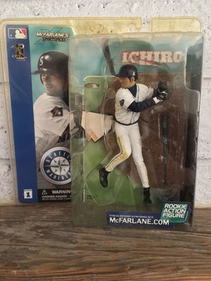 Ichiro Suzuki McFarlane rookie year figure. New in original packaging. Retired Hall of Fame player . for Sale in Chandler, AZ