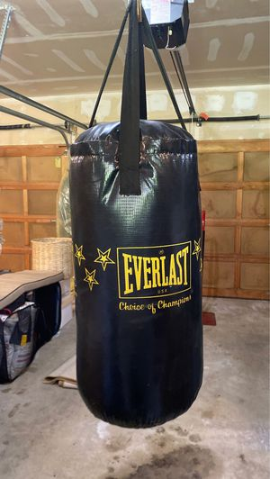 Everlast Punching Bag 25lbs w/mounting hardware, great condition! for Sale in Woodinville, WA