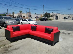 NEW 7X9FT RED LEATHER COMBO SECTIONAL COUCHES for Sale in Las Vegas, NV