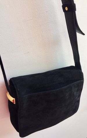 Donna Karan New York Black Suede Leather CrossBody Satchel for Sale in LAUD BY SEA, FL