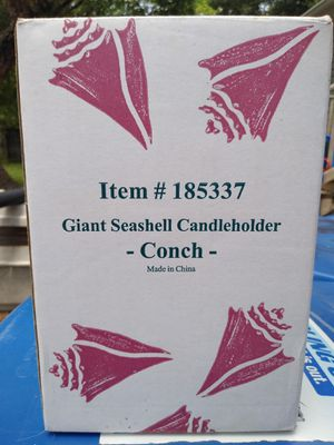 Conch shell candle holder for Sale in Saint Petersburg, FL