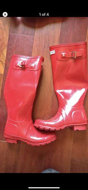 Hunter Red rain boots size 6 for Sale in Reston, VA