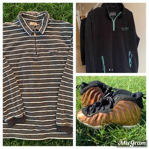 2 vintage guess half zip and Nike copper foamposites bundle deal for Sale in Mesa, AZ