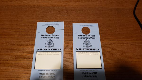 NW / National Forest day passes (two)