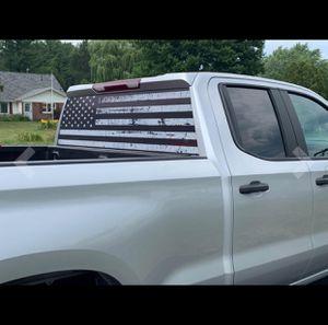 OFFROAD American Flag Rear Window Distressed Black & White for Sale in Stockton, CA
