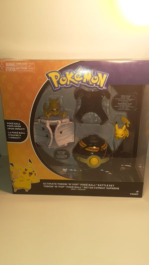 Ultimate throw n pop poke ball battle set thrown n pop Pikachu Pokemon for Sale in Los Angeles, CA
