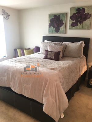 Brand New Queen Size Leather Platform Bed Frame ONLY for Sale in Wheaton-Glenmont, MD