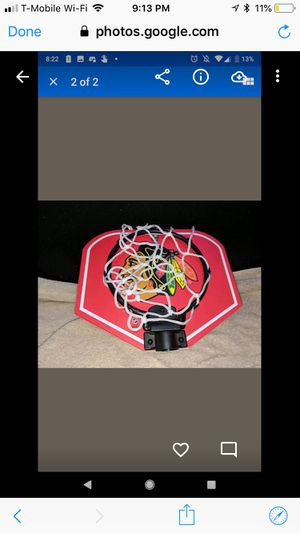 Mini basketball hoop blackhawks for Sale in Downers Grove, IL