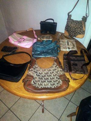 10 designer purses coach, Michael Kors, Kate Spade Etc for Sale in Arlington Heights, IL