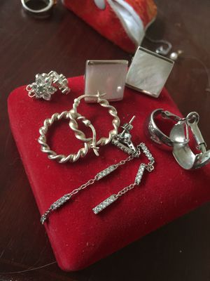 Silver earring lot for Sale in Bend, OR