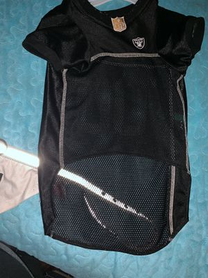Raiders dog jersey and collar for Sale in Visalia, CA