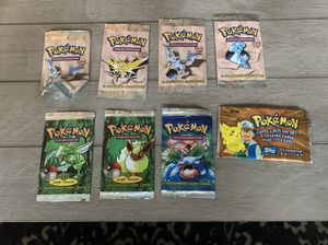 Pokemon wrappers only for Sale in Stoughton, MA
