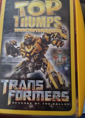 Toy Trumps Trans Formers Collectible Cards. Lowered Price for Sale in Chicago, IL