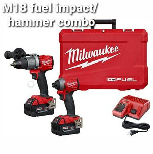 M18 fuel combo. 1 impact, 1 hammer drill, 2 5.0ah batteries, 1 charger for Sale in Colton, CA