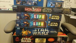 Star wars new in box board games life monopoly for Sale in Irvine, CA