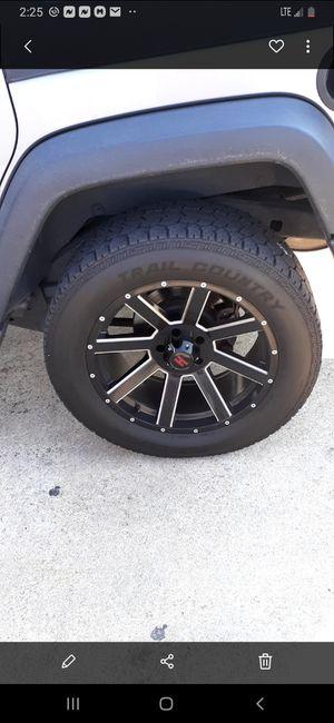 5 20inch off road wheels for Sale in Jonesboro, GA