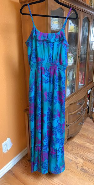 Express Floral Maxi Dress- Blue for Sale in San Francisco, CA