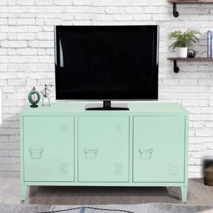 New Matapouri 3-Doors Green Metal Accent Cabinet TV Stand With Storage DESCRIPTION: What a wonderful server. With 3-doors and 6-shelves inside, it is for Sale in Houston, TX