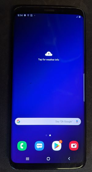 Unlocked Midnight Black Samsung Galaxy S9+ Plus (All Carriers & Countries) for Sale in Compton, CA