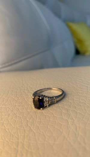 Blue sapphire 925 silver sz8 for Sale in Parma, OH